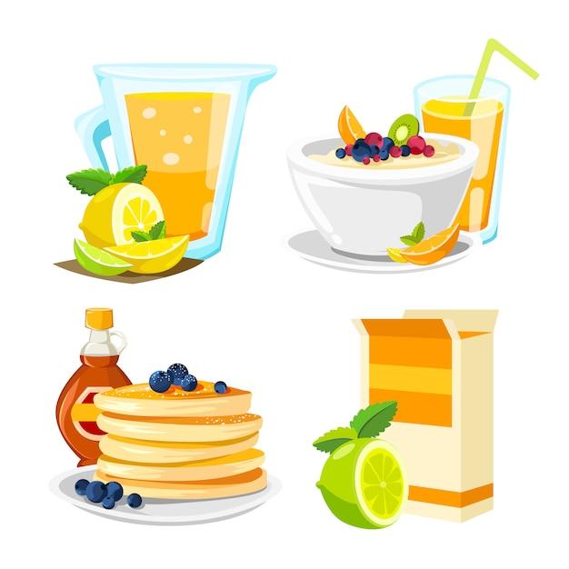 Klasyczny plakat z hotelowym menu śniadaniowym Darmowych Wektorów