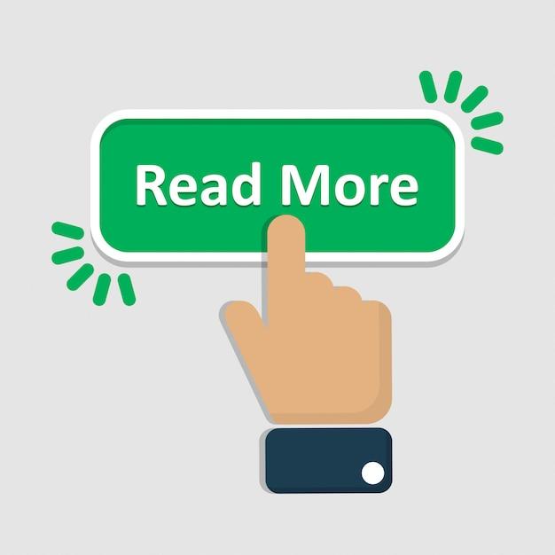 Kliknij ręcznie, aby przeczytać więcej przycisku w mieszkaniu Premium Wektorów