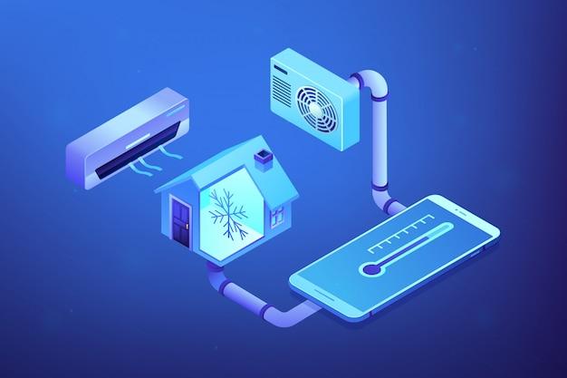 Klimatyzacja Koncepcja Izometryczny Ilustracja. Premium Wektorów