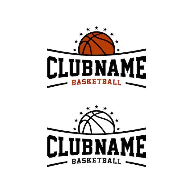 Klub Koszykówki Team Sport, Emblemat Sportowy E Logo Premium Wektorów