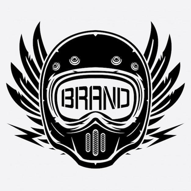 Klub logo rocznika kask Premium Wektorów