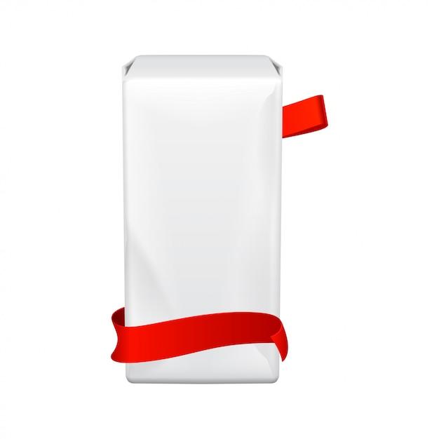 Kobiece Podpaski Higieniczne. Szablon Plastikowe Duże Opakowanie Na Podpaski Higieniczne. Opakowanie Na Białym Tle. Dni Miesiączki Premium Wektorów