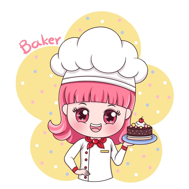 Kobieta Baker Premium Wektorów