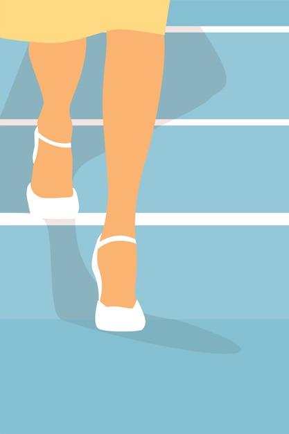 Kobieta Nogi. Premium Wektorów