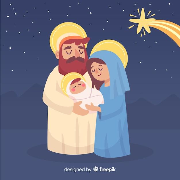 Kochająca rodzina narodzenia Darmowych Wektorów