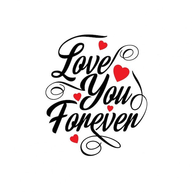 Kocham cię na zawsze Darmowych Wektorów