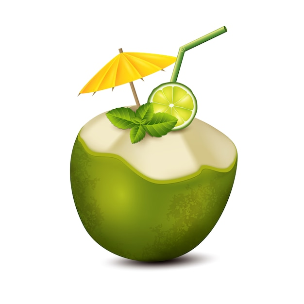 Koktajl Kokosowy Premium Wektorów