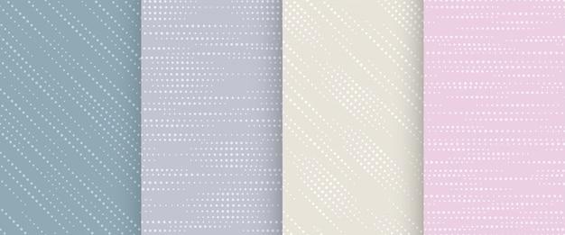 Kolekcja Abstrakcyjny Wzór W Pastelowych Kolorach. Premium Wektorów