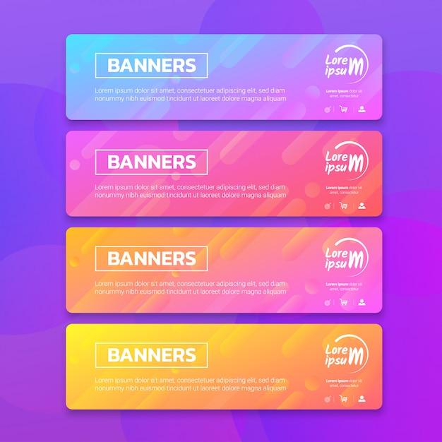 Kolekcja banerów abstact Premium Wektorów
