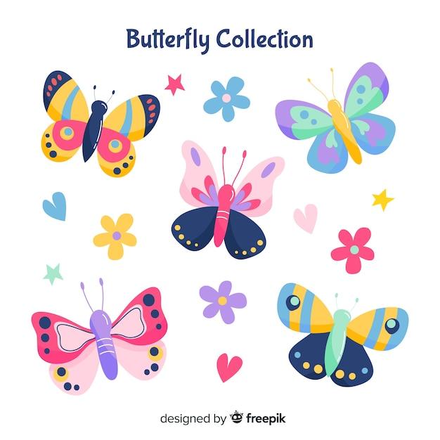 Kolekcja butterfly Darmowych Wektorów