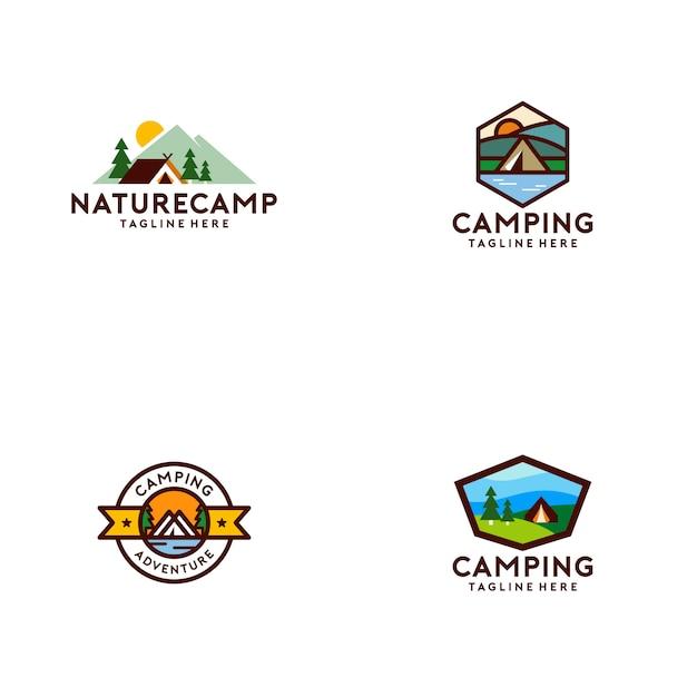 Kolekcja camp camp Premium Wektorów