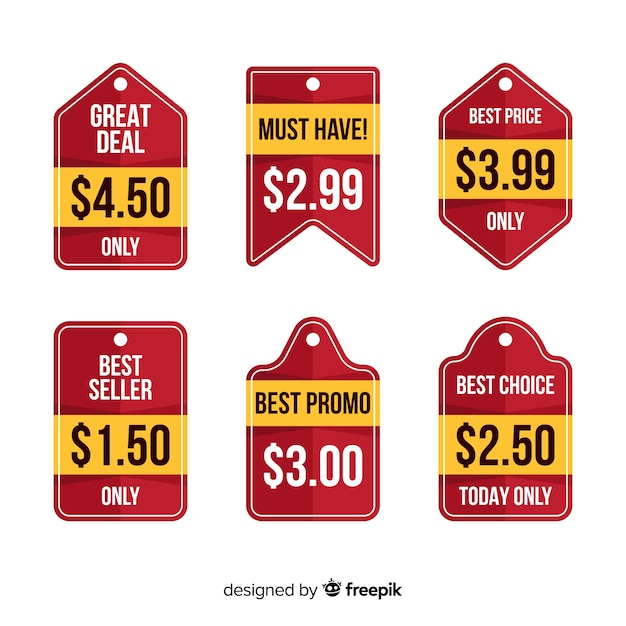 Kolekcja cennych zestawów etykiet Darmowych Wektorów