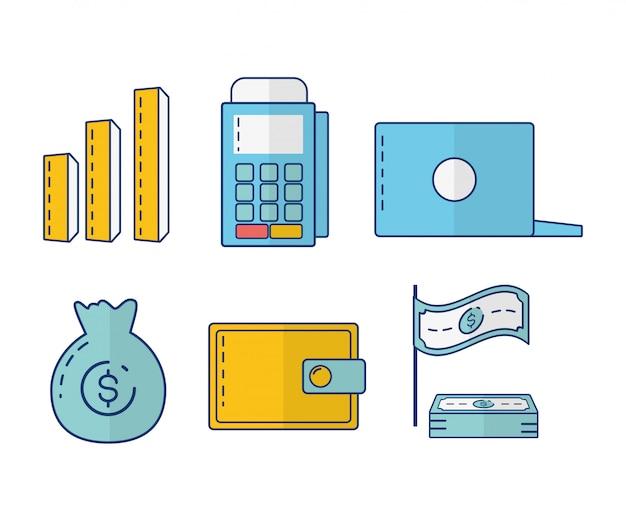 Kolekcja elementów bankowości internetowej Darmowych Wektorów