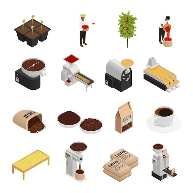 Kolekcja Elementów Branży Kawowej Darmowych Wektorów