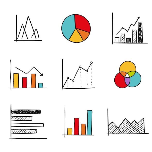 Kolekcja Elementów Diagramu Premium Wektorów