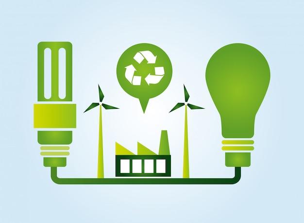 Kolekcja elementów ekologicznych Darmowych Wektorów