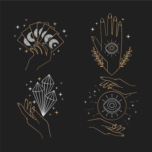 Kolekcja Elementów Ezoterycznych Darmowych Wektorów