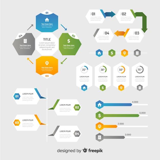 Kolekcja elementów infographic Darmowych Wektorów