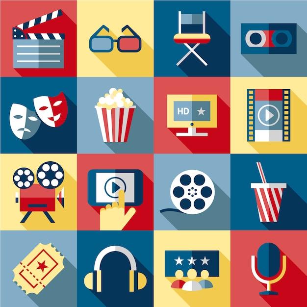 Kolekcja elementów kinowych Darmowych Wektorów