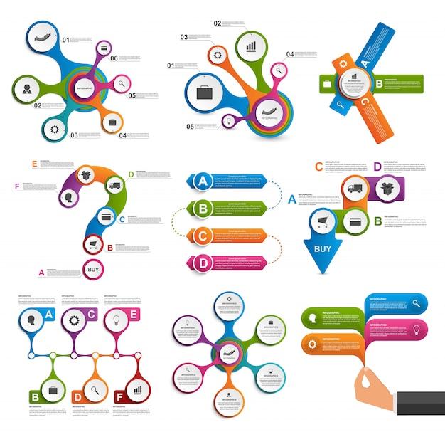 Kolekcja elementów plansza. elementy projektu wektor Premium Wektorów