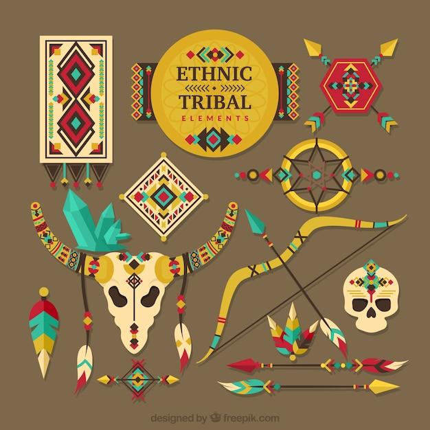 Kolekcja Elementów Plemiennych Darmowych Wektorów