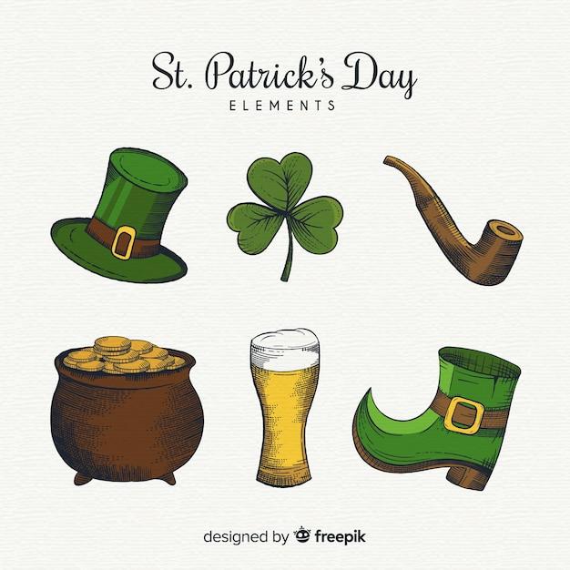 Kolekcja Elementów St Patrick's Day Darmowych Wektorów