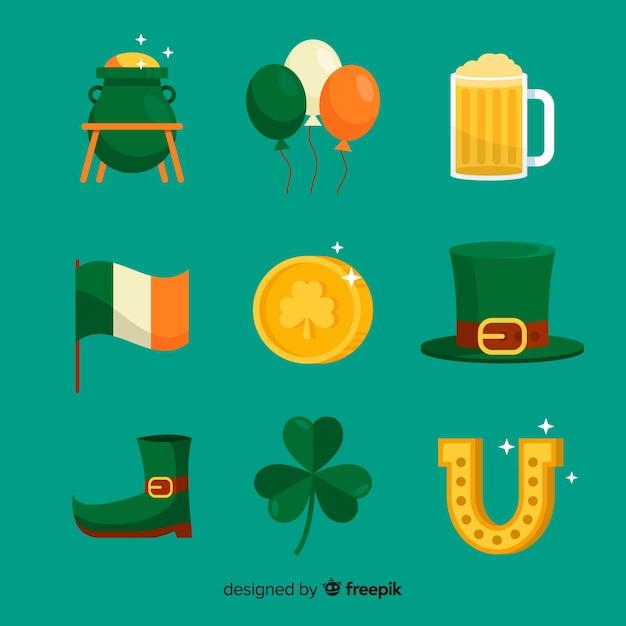 Kolekcja Elementów St. Patrick's Day Darmowych Wektorów