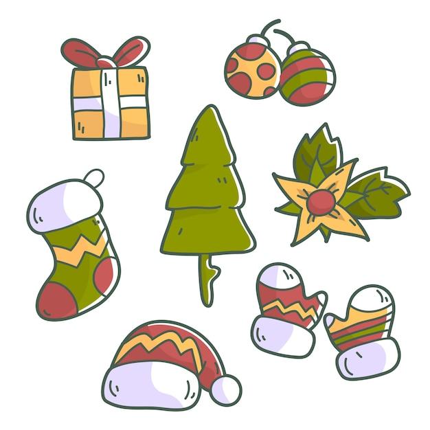 Kolekcja Elementów świątecznych Premium Wektorów