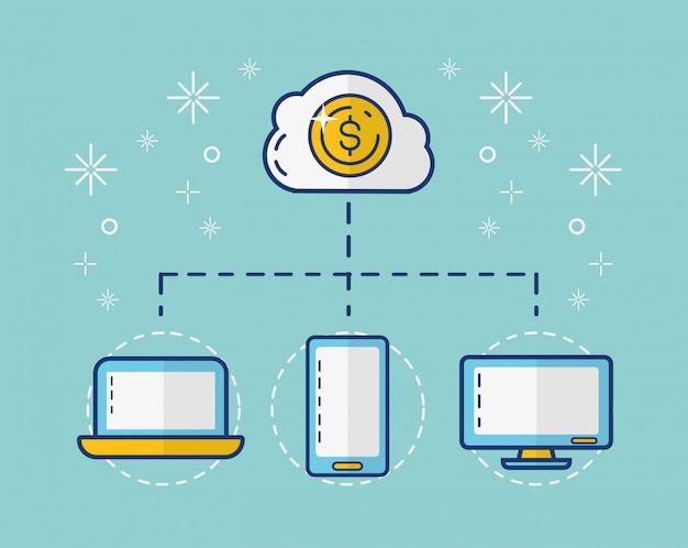 Kolekcja elementu płatności online Darmowych Wektorów