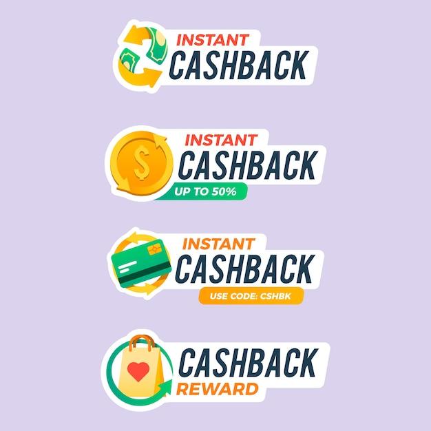Kolekcja Etykiet Cashback Darmowych Wektorów