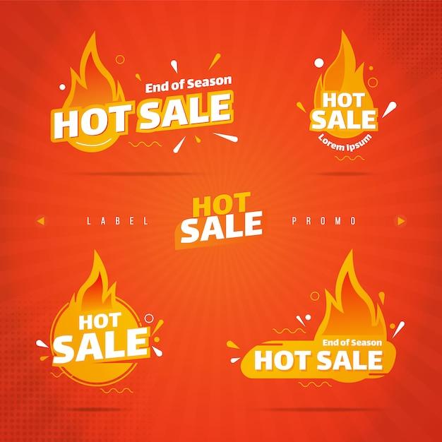 Kolekcja Etykiet Gorącej Sprzedaży Premium Wektorów