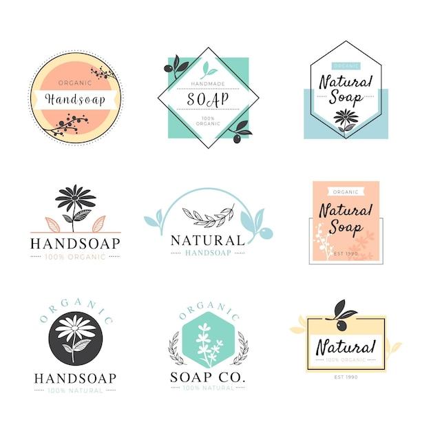 Kolekcja Etykiet Mydła Darmowych Wektorów