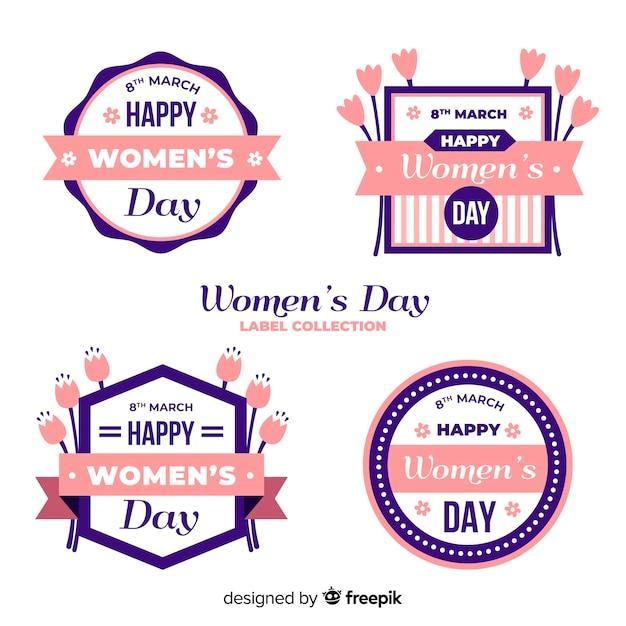Kolekcja etykiet na dzień kobiet Darmowych Wektorów
