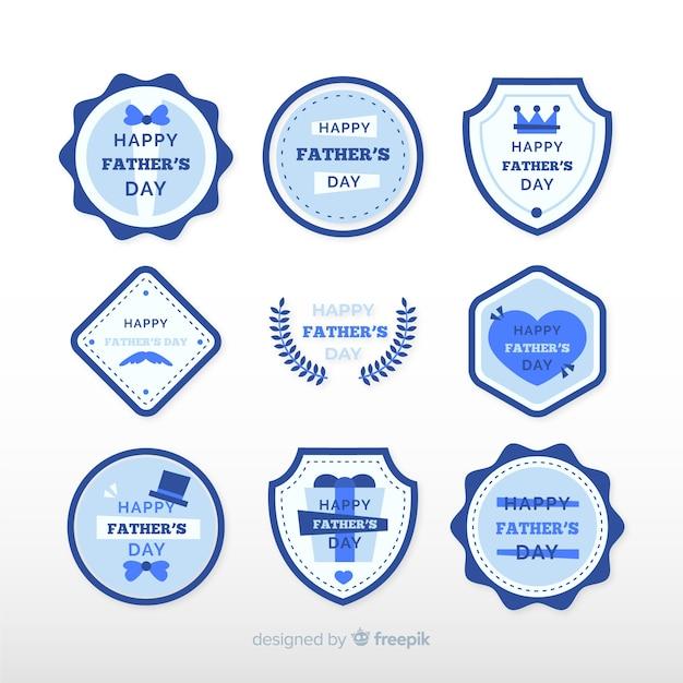 Kolekcja etykiet na dzień ojca Darmowych Wektorów