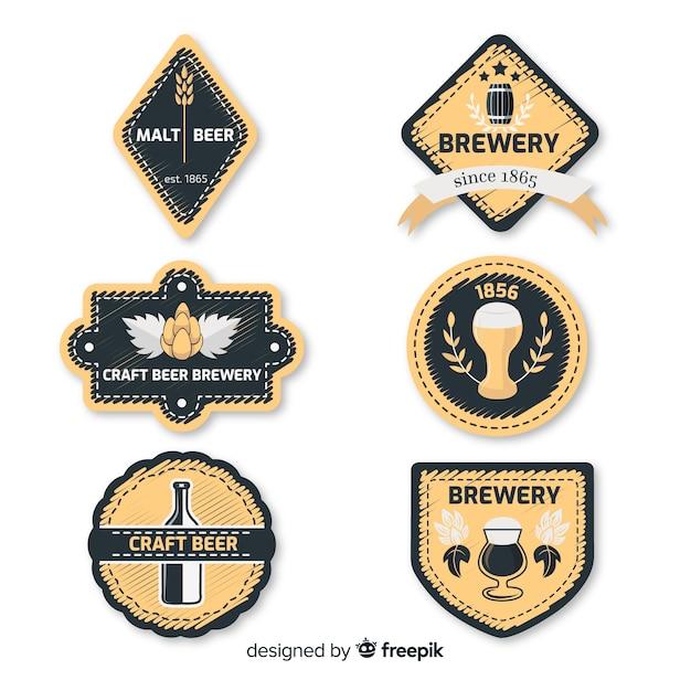 Kolekcja etykiet piwa Darmowych Wektorów