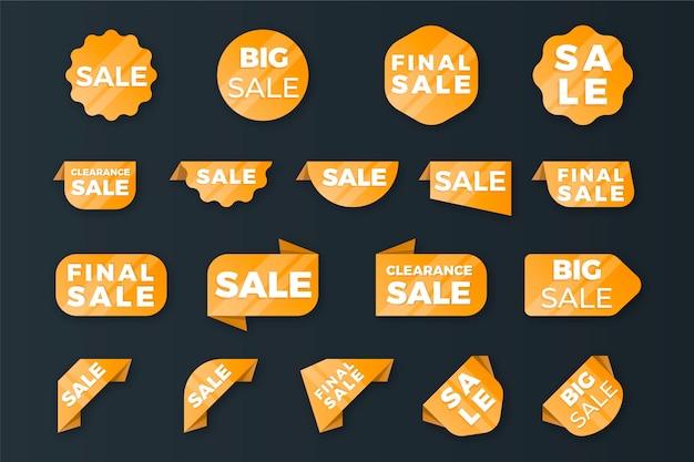 Kolekcja etykiet sprzedaży Darmowych Wektorów