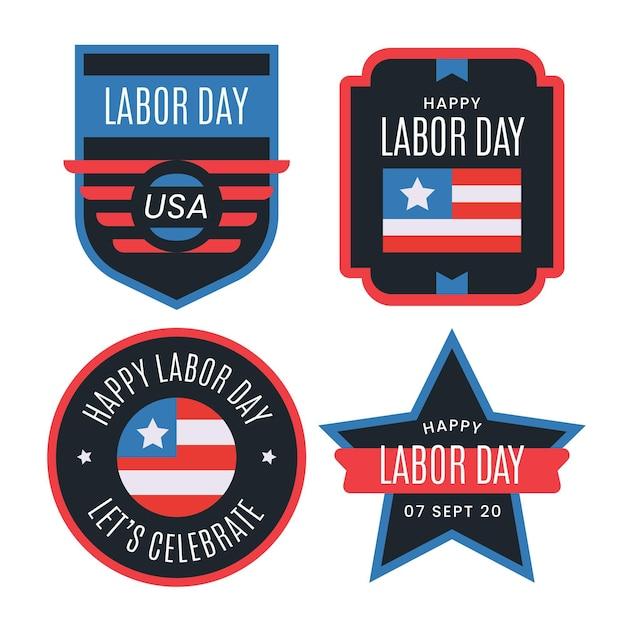 Kolekcja Etykiet święta Pracy Darmowych Wektorów