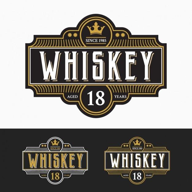 Kolekcja Etykiet Whisky Darmowych Wektorów