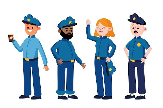 Kolekcja Funkcjonariuszy Policji Darmowych Wektorów