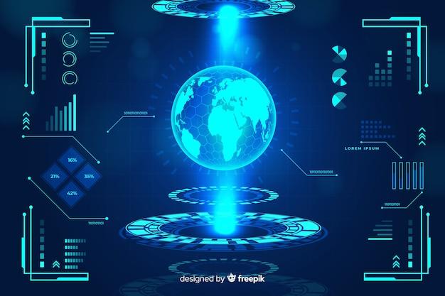 Kolekcja futurystycznych elementów infographic Darmowych Wektorów