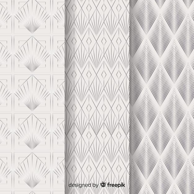 Kolekcja geometryczny wzór luksusu Darmowych Wektorów