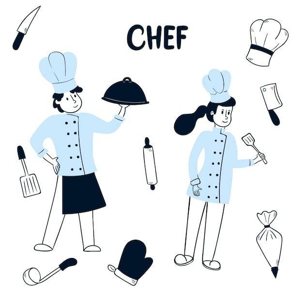 Kolekcja Gotować Darmowych Wektorów