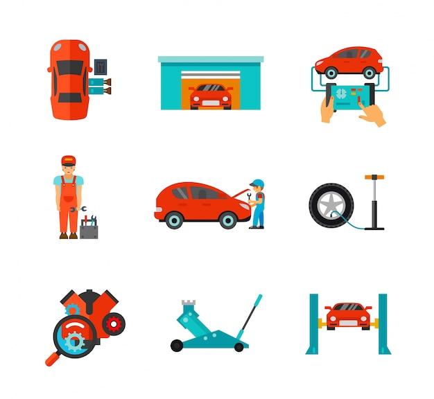 Kolekcja ikon mechanicznych Darmowych Wektorów