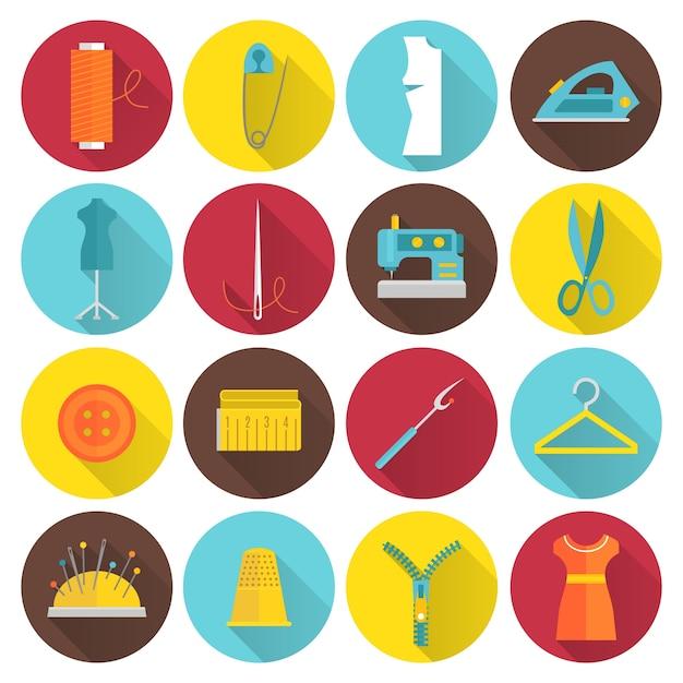 Kolekcja ikony do szycia Darmowych Wektorów
