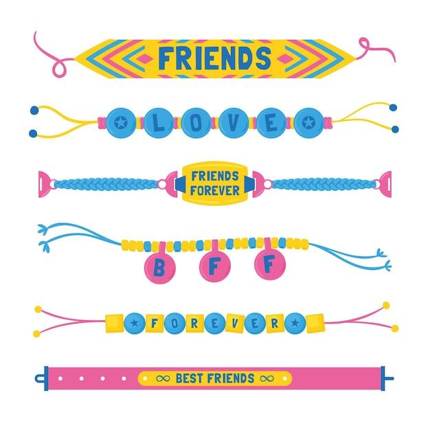 Kolekcja Kolorowego Zespołu Przyjaźni Darmowych Wektorów