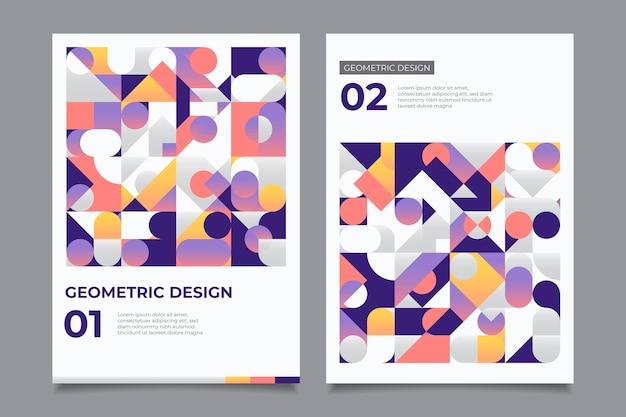 Kolekcja Kolorowych Okładek Geometrycznych Biznesowych Darmowych Wektorów