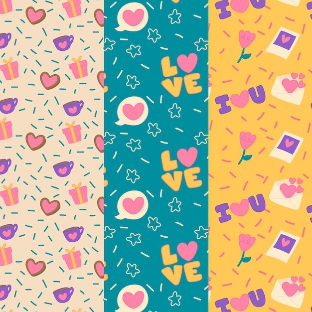 Kolekcja Kolorowych Walentynek Darmowych Wektorów