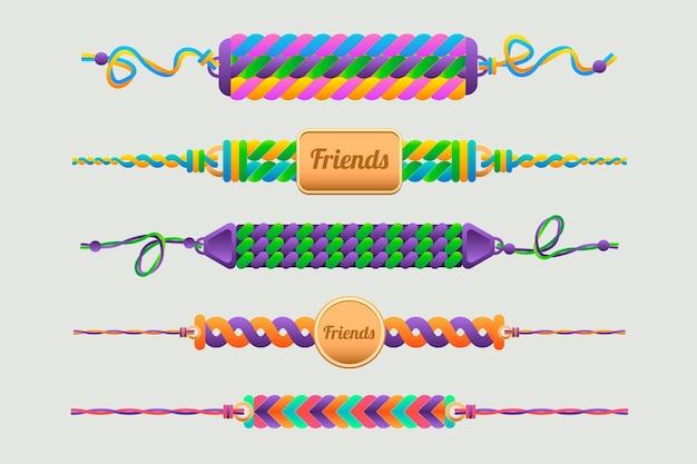 Kolekcja Kolorowych Zespołów Przyjaźni Darmowych Wektorów