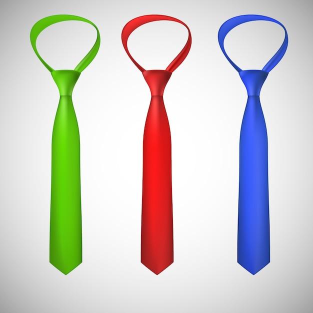 Kolekcja Krawatów Na Szyję Premium Wektorów