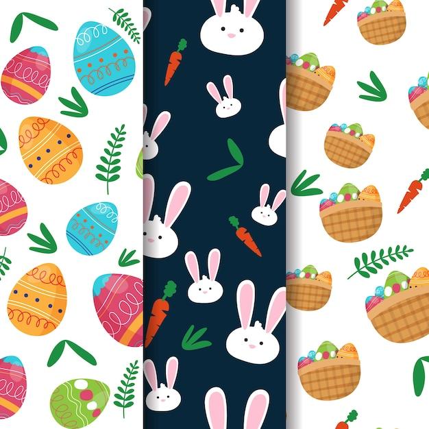 Kolekcja Kreatywnych Wzorów Wielkanocnych Darmowych Wektorów